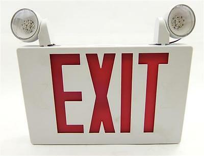 APC All-Pro Emergency Series Exit LED Sign w/Strobe Light Heads - Indoor/Outdoor