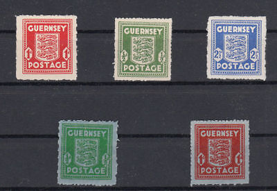 Deutsche Besetzung 1939-45 Kanalinseln Guernsey 1-5 postfrisch