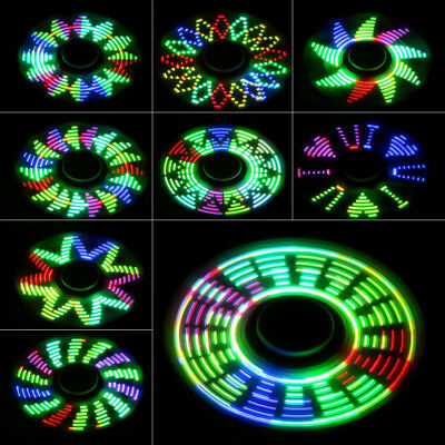 17 Changings LED Rainbow Flash Light Spinner Finger De-Stress EDC Focus Toy Gift