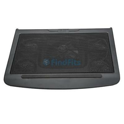 """17"""" USB LED Light Cooling Stand Pad Powerful 5 Fan Laptop Notebook PC Cooler UK"""