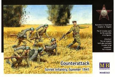 Master Box MB3563 Counterattack. Soviet infantry, Summer 1941. Scale 1:35