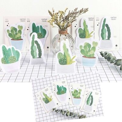 Cactus Design Sticky Notebook Notes Memo Pad Post It Paper Sticker Stationery