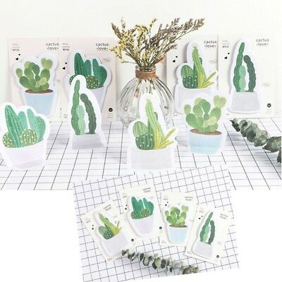 Cactus Design Sticky Notebook Notes Memo Pad  Paper Sticker Stationery