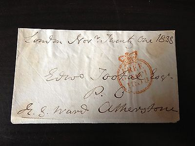 Henry George Ward - Diplomat , M.p. & Governor Of Madras - Signed Envelope Front