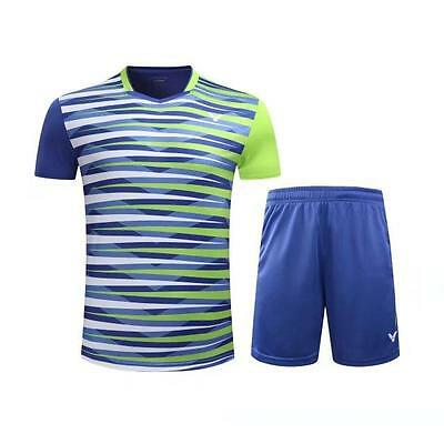 2017 Tennis men's Tops table tennis clothing Set T-shirt+shorts 253
