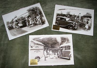 Set Of 3 Modern Photographic Prints (Cars, Buses & Steam Trains)