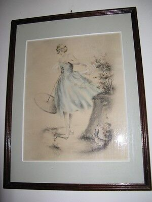 Original etching of Naudy, signed in pencil ...