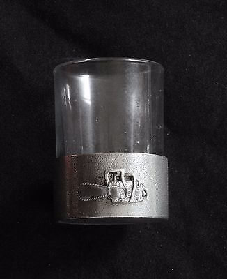 Chainsaw Shot Glass Pewter Based Round 50ml Farming Gift