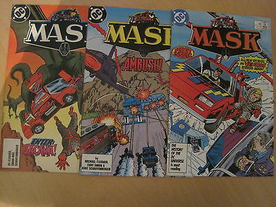 MASK : 1987 DC SERIES : #s 1,3,6. BASED ON THE CLASSIC TV SERIES