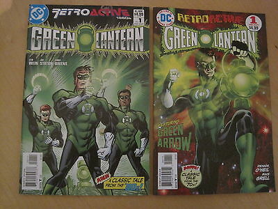 GREEN LANTERN, SET 2x 64 PAGE GIANT ONE-SHOT RETROACTIVE 1970's & 1980's.DC.2011