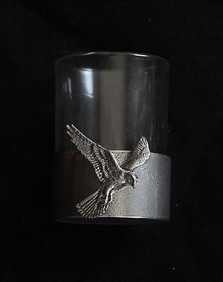Kestrel Shot Glass Pewter Based Round 50ml Hunting Gift