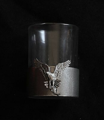 Osprey Shot Glass Pewter Based Round 50ml Hunting Gift