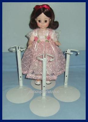 """3 Kaiser 3501 White Metal Doll Stands fits size 16/"""" 25/"""" Dolls"""
