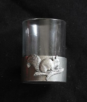 Squirrel Shot Glass Pewter Based Round 50ml Shooting Gift