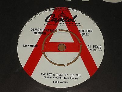 """Buck Owens """"I've Got A Tiger By The Tail"""" Capitol Demo 45"""