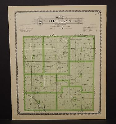Iowa Winneshiek County Map Orleans Township 1905  K15#02