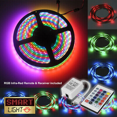 RGB LED 5M-10M Strip Light Tape XMAS Cabinet Kitchen Ceiling WATERPROOF 2835 12V