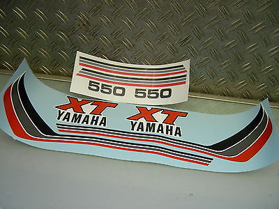 New Xt 550 Tank Seitendeckel Side Panel Covers Dekor Aufkleber Graphics Sticker