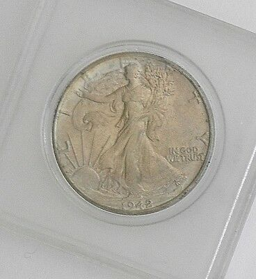 1942 Silver WALKING LIBERTY Half Dollar~~High MS Grade w/Luster in Hard Case