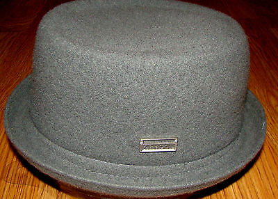 f3a85773cc1 SLATE GREY KANGOL Wool Mowbray Pork Pie Hat -  55.00