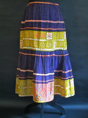 Unique Vintage Hmong Pleated Skirt