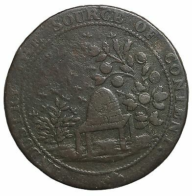 1794 Great Britain Sussex Winchelsea Beehive Halfpenny Conder Token D&H-40