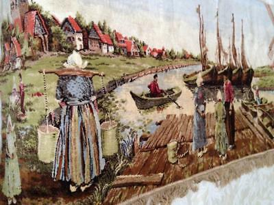 Vintage, Beautiful, Souvenir of Holland Tapestry 68in x 56in