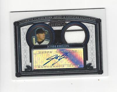 2005 Bowman Sterling  Josh Fields AUTOGRAPH JERSEY White Sox