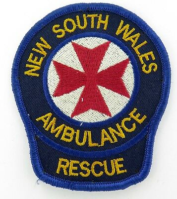 .Rare / Vintage Nsw Ambulance Rescue Patch. Look At The Phone Number On Back !