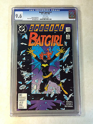 BATGIRL SPECIAL #1 CGC 9.6, MIGNOLA COVER, white pages, 52 PGS, 1988, KITSON