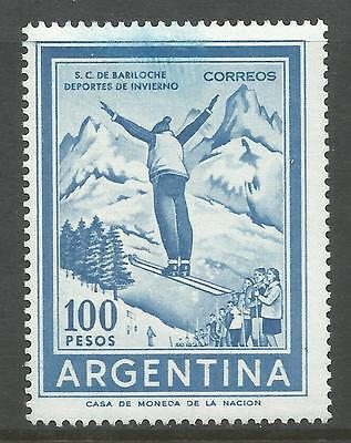 ARGENTINA. 1969. 100 Peso Ski Jumper. Watermark Multiple Arms. SG: 1250. MNH