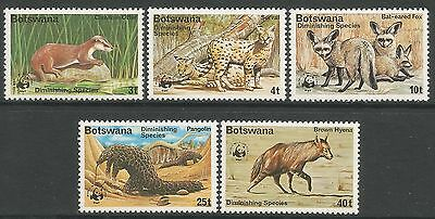 BOTSWANA. 1977. Diminishing Species Set. SG: 394/98. Mint Never Hinged