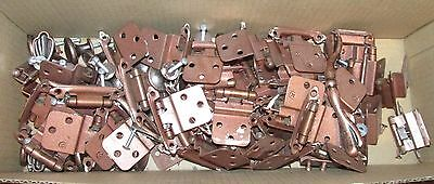 Box of Used Cabinet hinge, door and hardware (used)