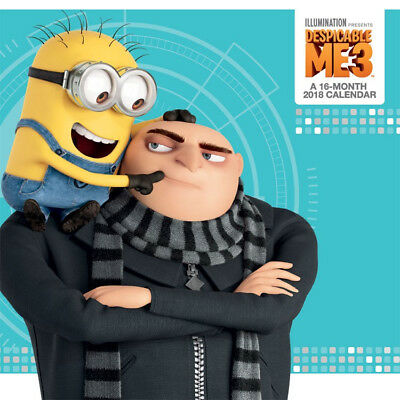 Despicable Me 3 Movie Animated Art 16 Month 2018 Wall Calendar NEW SEALED