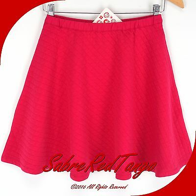 Nwt Hanna Andersson Twirl Quiltie Skater Skirt Cerise Pink 150 12