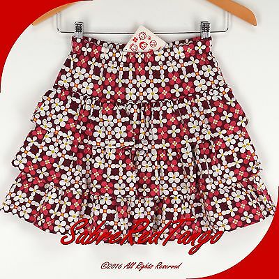 Nwt Hanna Andersson Ruffle Twirl Skirt Russet Floral 130 8