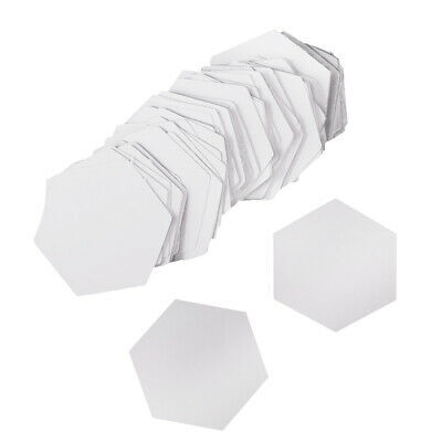 100Pieces White Hexagons Quilting Templates Paper Piecing Quilting DIY 26mm