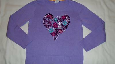 NEW Girls Size M 7-8 Gymboree Sweater Embroidered Heart Back to Blooms $36 NWT