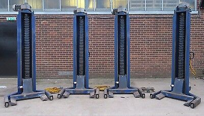 4 x Somers SVL 2002 Ton 28 Tonne set Truck Lorry Heavy Duty Ramp Column Lifts