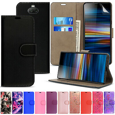 For Sony Experia Xperia XA1-Leather Wallet Flip Case Cover + Screen Protector