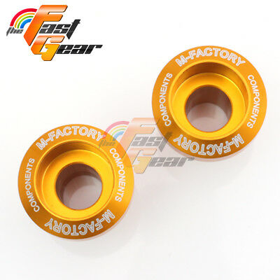 Billet Gold CNC Racing Swingarm Spools for Kawasaki Ninja 300R 2013-2015