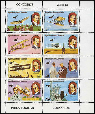 Equatorial Guinea 1970's Concorde, Aviation MNH Sheet #C29008