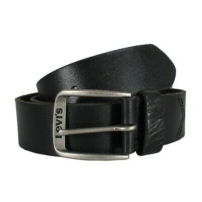 4d62f87534d3e3 Levi s 223850 Classic Top Logo Buckle Belt Leather black Belt black NEW