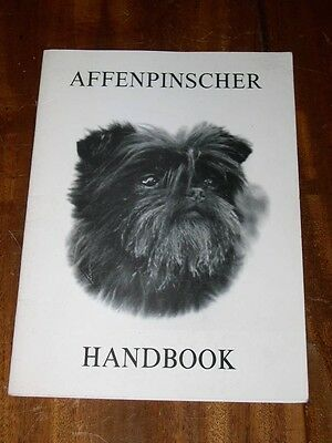 "Rare ""the Affenpinscher Handbook""  Dog Book By Boorer 1St 1982 Vg Condition"