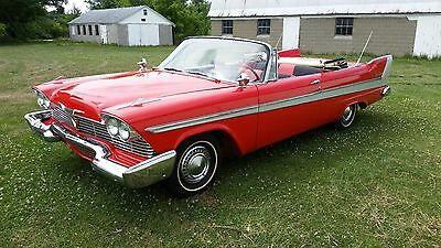 1958 Plymouth Belvedere  1958 Plymouth Belvedere Convertible Bright RED  VERY RARE original western car