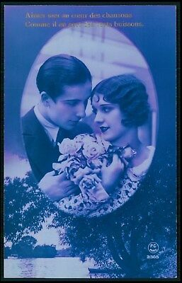 A Love Couple Romance Fantasy Art Deco Pop Old 1920s Photo