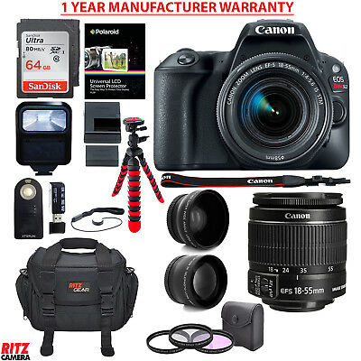 Canon EOS Rebel SL2 DSLR Camera with EF-S 18-55mm STM Lens and Accessory Bundle