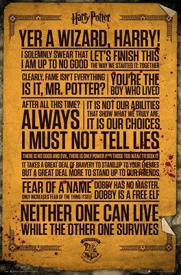 Harry Potter Quotes Poster 61x91.5cm