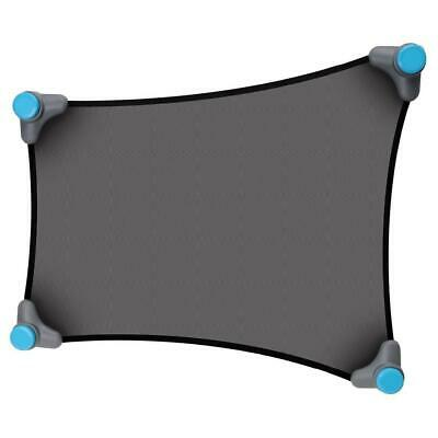 Munchkin Stretch-to-Fit Sun Shade (Black) custom-fit to your window shape