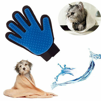 Pet Dog Cat Grooming Glove Dirt Hair Remover Brush Glove for Gentle Deshedding.